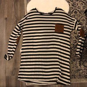 Reborn J knit striped Hacci Dress 3XL